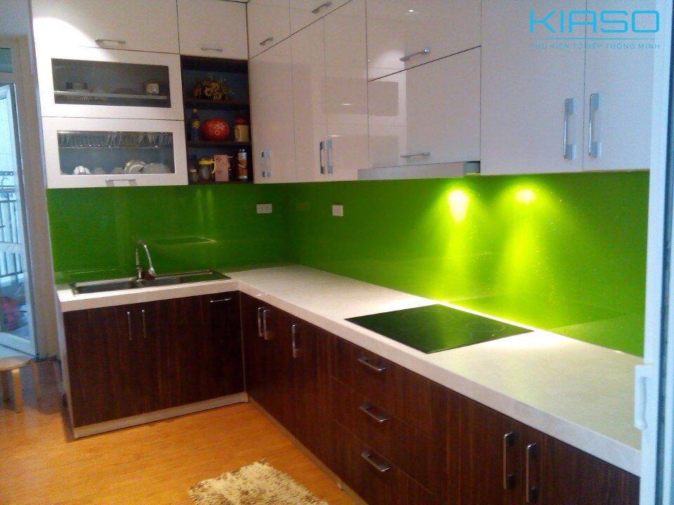 Mẫu phòng bếp xanh